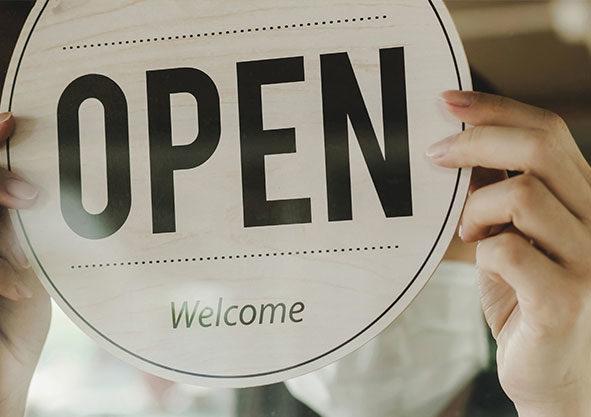Wir haben weiterhin für Sie geöffnet